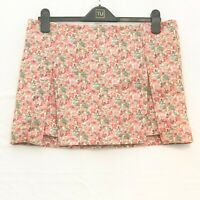 TOPSHOP PINK MIX FLORAL LADIES MINI SKIRT  SIZE 14 LENGTH 14""
