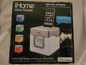 iHome iP18W Color-Changing Alarm Clock Speaker for iPod & iPhone 3Gs 4 4s RARE