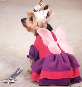 ZACK & ZOEY FAIRY PRINCESS LITTLE DOG OUTFIT SUPER CUTE!! SIZE X-SMALL BNIP