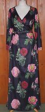 Voodoo Vixen, Ladies, Vintage, Tall, Floral, Wrap, Dress, size XL (14-16)
