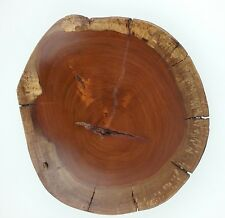 Wood Burl Bowl Hand Carved Costa Rican Artist Arturo Solano