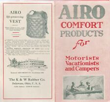 AIRO COMFORT PRODUCTS FOR MOTORISTS,VACATIONISTS,CAMPERS-VINTAGE  BROCHURE