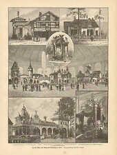 Vienna Austria, Promotional Products Exhibit, Vintage 1894 German Antique Print