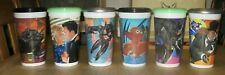 1992 Batman Returns McDonalds Plastic Cup Set of 6 With Lids - Coke