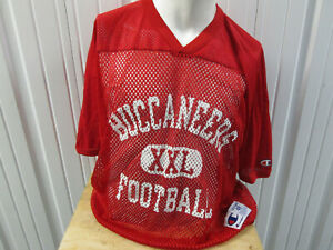 VINTAGE CHAMPION TAMPA BAY BUCCANEERS XL TRAINING PRACTICE RED JERSEY PREOWNED