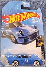 2018 Hot Wheels #64 Nightburnerz 2/10 PORSCHE 934.5 Blue w/White Lace Spokes Whl