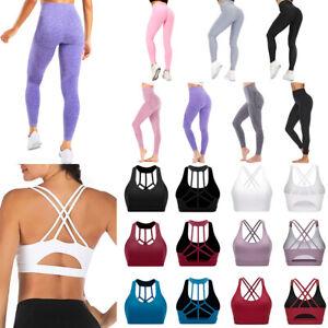 Sports Bra Yoga Leggings High Waisted Seamless Camouflage Yoga Pants for Women