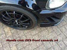 Honda Civic ek9 Type R canards/ek4/VVTi/ek9 canards/pare-chocs canards/Diffuseur nageoires