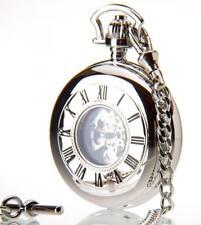 Greenwich The Windsor - Chrome Mechanical Double Half Hunter Pocket Watch GPW130