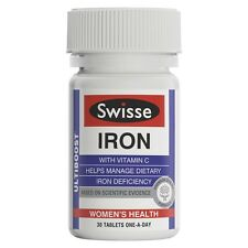 3 x Swisse Ultiboost Iron 60 Tablets (180 tablets in total)