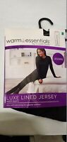 Warm Essentials By Cuddl Duds Womens Black Luxe Lined Jersey Legging Size Small