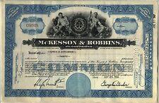 McKesson & Robbins Incorporated Stock Certificate