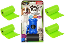Dog Poop Bag Dispenser Blue Clips To Collar + 90 Bags Pet Waste Bags BowWowPals