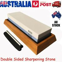 Dual Whetstone Double Sided Grit Knife Sharpener Sharpening Wetstone 1000/6000