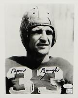 Sammy Baugh Autographed Redskins 8x10 B&W Close Up Photo-JSA Auth *Black