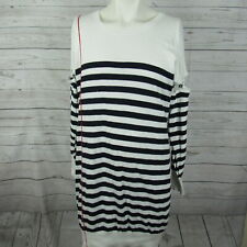 Alexander McQueen Large Sweater Dress Womens Navy White Stripe Removable