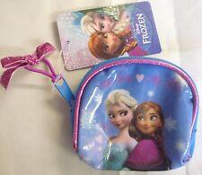 Disney Frozen Plastique et Toile Fermeture Éclair Porte-monnaie avec Brillant Cheveux Bande