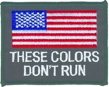 US FLAG EMBROIDERED PATCH RED / WHT / BLUE THESE COLORS DONT RUN