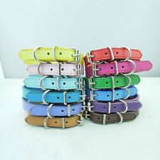 Dog Collars Dog Pet Cat Puppy PU Leather Collars Neck Buckle Adjustable Buckle