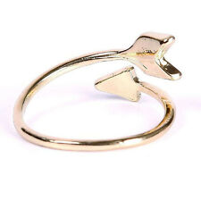 Korean Women Gold Silver Plated Arrow Rings Above Knuckle Ring Openable Jewelry