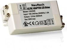 Neuftech 30W 12V AC/DC Adaptador Convertidor Transformador LED Driver Fuente De Alimentación