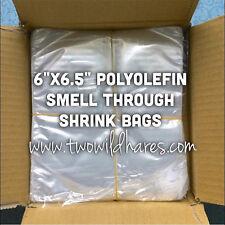 "500- 6""x6.5"" Polyolefin Shrink Bags (smell through)"