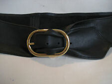 LADIES/WOMENS BLACK NAPPA LEATHER BELT