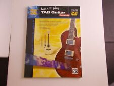 * Learn To Play Tab Guitar instructional Songbook with Cd/Dvd Alfred