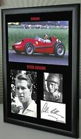 """Peter Collins F1 Ferrari Framed Canvas Signed Print """"Great Gift"""""""