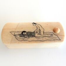 Oriental Asian Erotica Scrimshaw Trinket Hand Carved