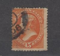 USA 1870 15c Orange Webster Sc#152 Fine Used JK1012