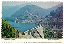 Detroit Dam Oregon Postcard Vintage Lake Cascades North Santiam River Unposted