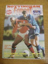 30/11/1994 Nottingham Forest V Millwall [Football League Cup]. Etat: nous comme
