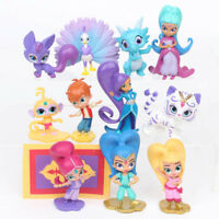 SHIMMER AND SHINE CAKE TOPPERS 12 PLASTIC FIGURES GREAT FOR CAKE BOY GIRL GIFT