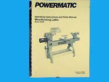 Powermatic Model 3520b Wood Lathe Operators Amp Parts List Manual 252