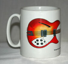 Guitar Mug. George Harrison's 1964 Rickenbacker 360/12 illustration.