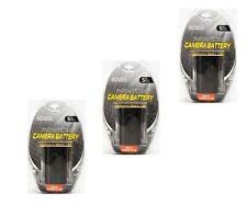 THREE 3X Batteries LP-E6 LP-E6N for Canon SLR EOS 5D Mark II EOS 7D 6D 70D 60D