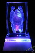 "GlasKristall""dickbauchige Buddha"""