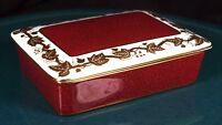 Wedgwood Whitehall Powder Ruby Lidded Butter Dish - W3994 - 1st Quality