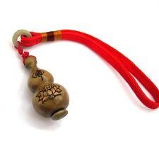 Sandalwood Tibet Buddhist Buddha Word Gourd Sutra Inside Amulet Pendant Hanging
