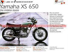 YAMAHA XS 650  ( XS650 XS1 XS2 ) 1971 Fiche Moto 000261