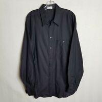 Zanella Mens Charcoal Grey Button Front Long Sleeve Casual Shirt Italy XL O308