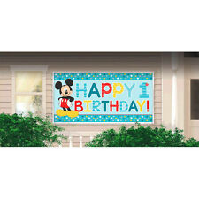 Mickey Mouse Fun to Be One Happy 1st Birthday Plastic Banner