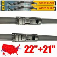 "For Toyota Tacoma 2005-2013 22"" + 21"" Windshield Wiper Blades U &J hook Set of 2"
