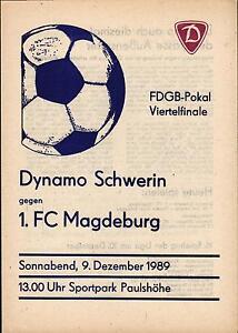 FDGB-Pokal 89/90 Dynamo Schwerin - 1. FC Magdeburg, 09.12.1989