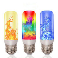3/4 Modes E27 LED Flame Effect Flame Fire Light Bulb Flickering Lamp Room  PM