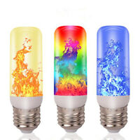 3/4 Modes E27 LED Flame Effect Flame Fire Light Bulb Flickering Lamp Room Dec YK