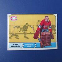 LORNE GUMP WORSLEY 1968-69 O-Pee-Chee # 56 OPC Montreal Canadiens  NM  68-69