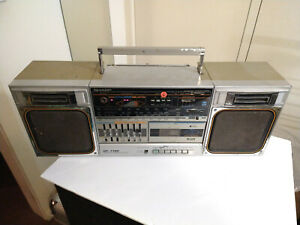 Sharp GF-7750 Boombox Portable Hi-Fi System (partly working)