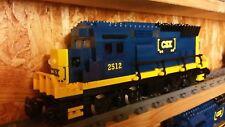 Lego Eisenbahn Lok GP38 der CSX Rail mit 9Volt Motor Custom